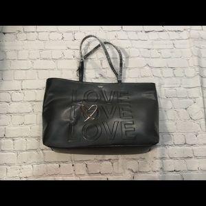 NWT Victoria's Secret Tote Love on Front Black 🔥
